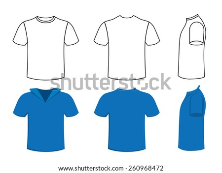 Vector two different t-shirt design - stock vector