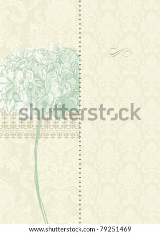 Vector Two Part Floral Background. Easy to edit. Perfect for invitations or announcements. - stock vector