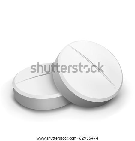 vector two pills - stock vector
