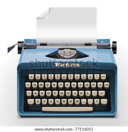 Vector typewriter XXL icon - stock vector