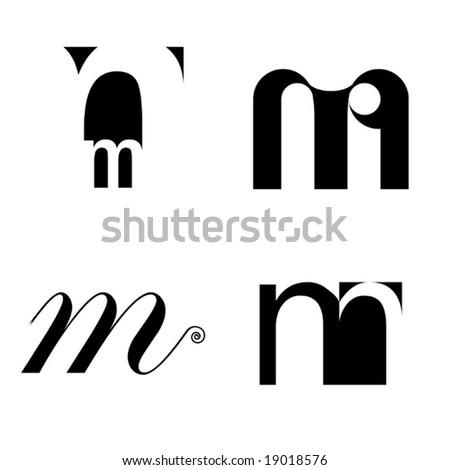 Vector Typography Elements - stock vector