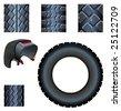 vector tyre - stock vector