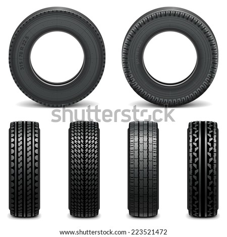 Vector Tyre Icons - stock vector