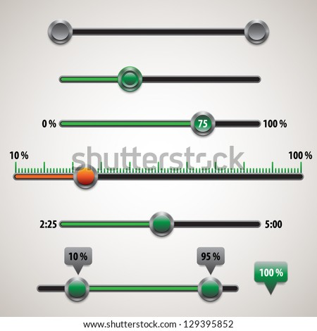Vector ui elements for website - stock vector