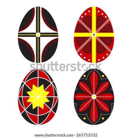 Vector Ukrainian Easter Eggs. Pysanka.  - stock vector