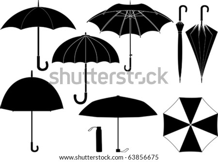 Vector umbrella collection - stock vector