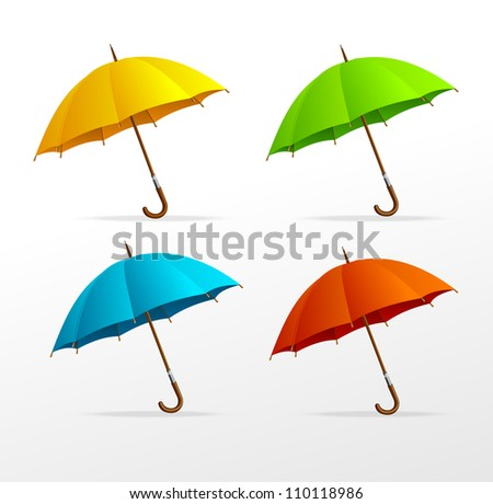 Vector umbrellas set - stock vector