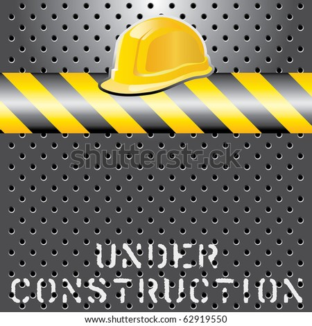vector under construction layout, layered and fully editable - stock vector