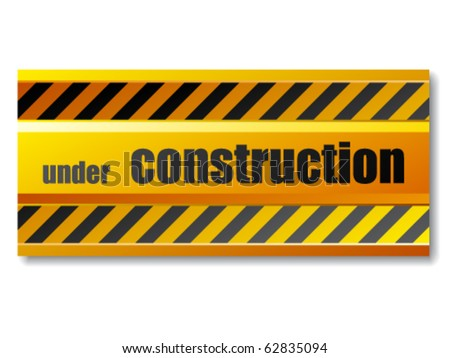 vector under construction sign - stock vector
