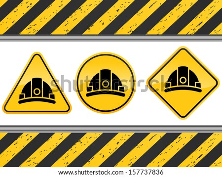 vector under construction signs - Separate layers for easy editing - stock vector