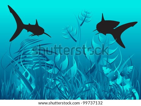 Vector Underwater - stock vector
