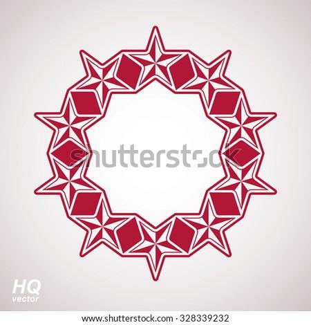 Vector union conceptual symbol. Festive design element with stars, decorative luxury template.  - stock vector