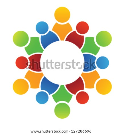 Vector United Family - stock vector