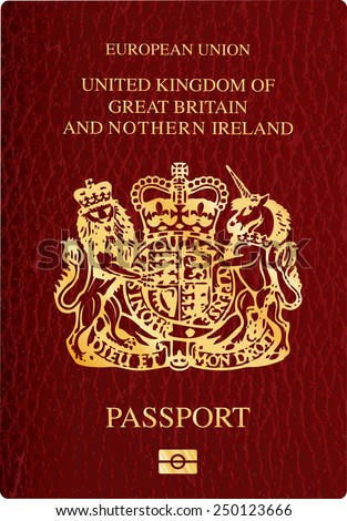 vector United Kingdom passport cover - stock vector