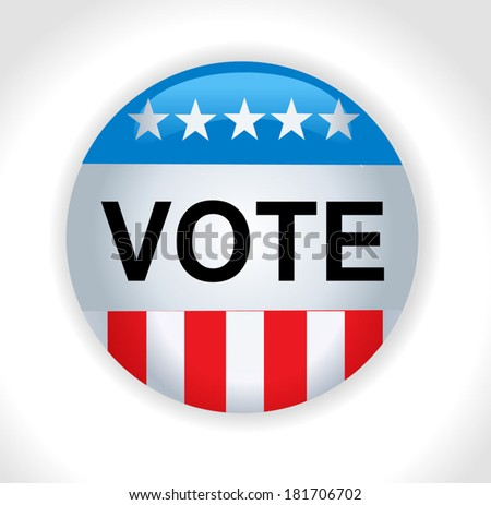 Vector - United States Election Vote Button