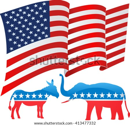 Vector - United States Election Vote Button - stock vector