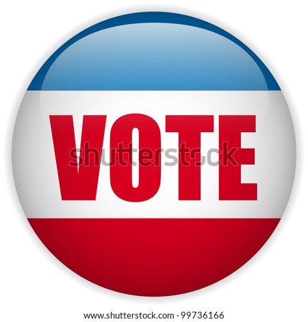 Vector - United States Election Vote Button. - stock vector
