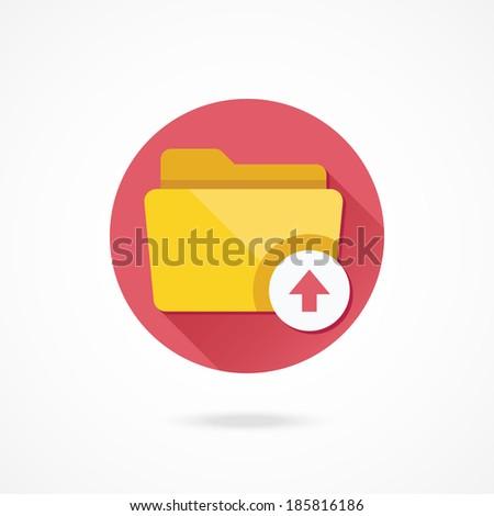 Vector Upload Folder Icon - stock vector