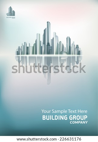 Vector urban cityscape. Background for your design