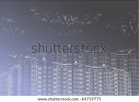 Vector Urban graphic background (see jpg version in my portfolio) - stock vector