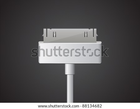 Vector usb cable - stock vector