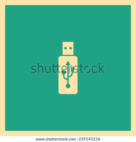 Vector usb flash drive icon - stock vector