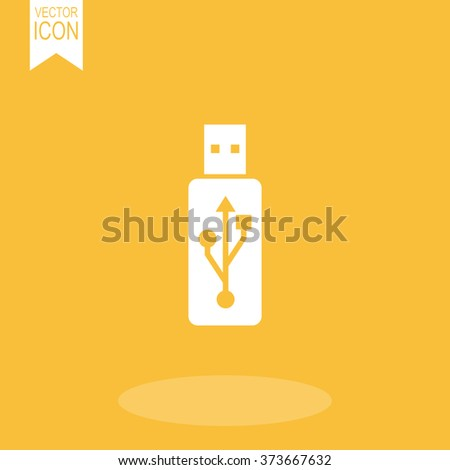 Vector usb flash drive icon. - stock vector