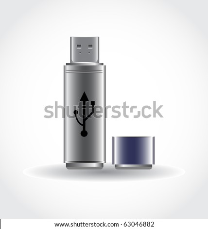 vector USB-stick - stock vector