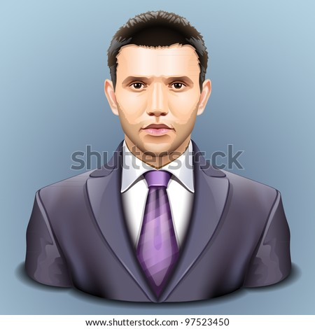 Vector user icon - stock vector
