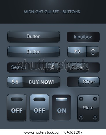 Vector User Interface Elements - Buttons