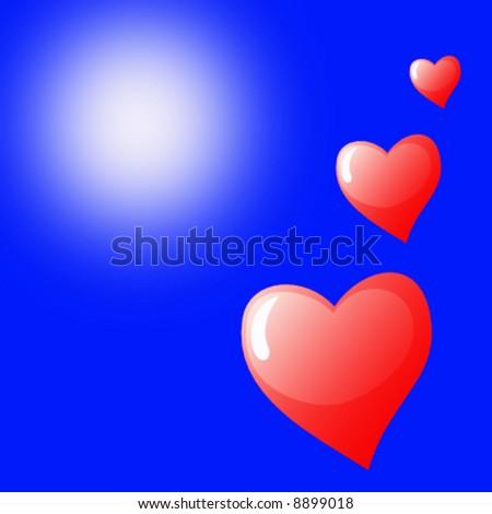 vector valentine background - stock vector