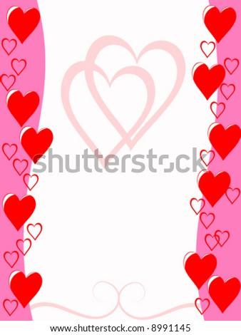 vector valentine card - stock vector