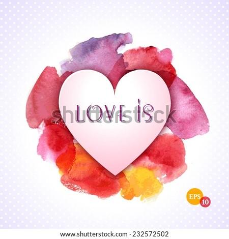 Vector - Valentine Day Heart  - stock vector
