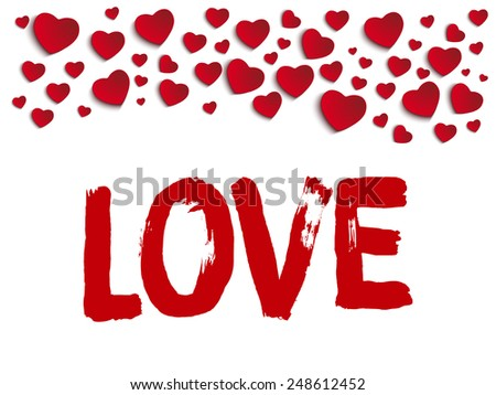 Vector - Valentine Day I Love you Heart - stock vector