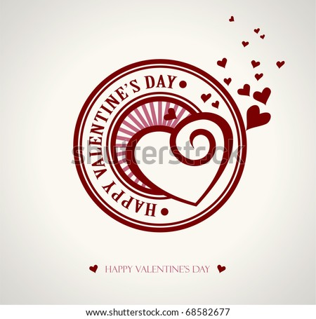 vector valentine heart and the text Happy Valentine's Day written inside - stock vector