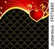 vector Valentines day background - stock vector