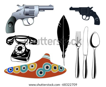 Vector various objects - stock vector