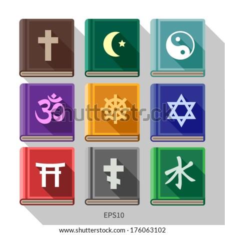 vector. various religious symbols - stock vector