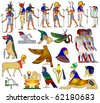 Vector various themes of ancient Egypt - stock photo