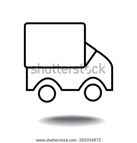 Vector vehicles icon Isolated on White Background - stock vector