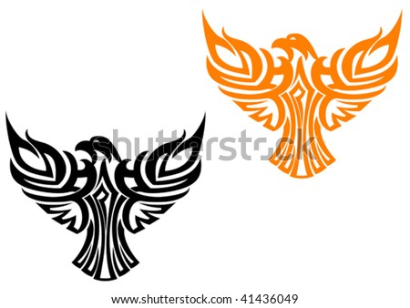Vector version. Beautiful american eagle symbol isolated on white - stock vector
