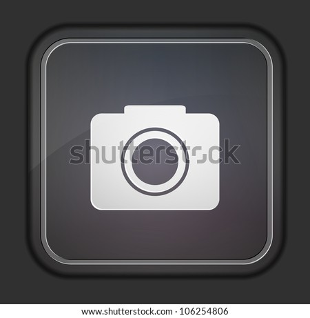Vector version. Camera icon. Eps 10 illustration. Easy to edit - stock vector