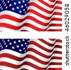 Vector version. Flag of USA for design as a background or texture. Jpeg version is also available - stock vector
