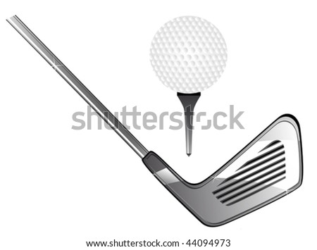 Vector version. Golf equipment for design isolated on white. Jpeg version is also available - stock vector