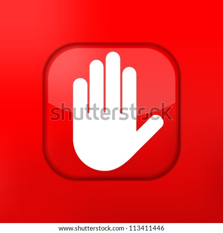 Vector version. Hand icon. Eps 10 illustration. Easy to edit - stock vector