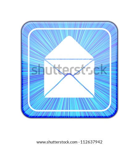 Vector version. Mail icon. Eps 10 illustration - stock vector
