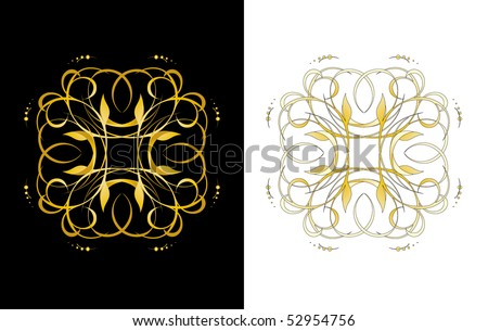 Vector version. Swirl elements and monograms for design and decorate.