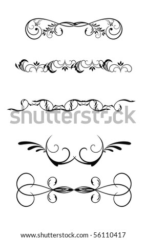 Vector version. Swirl elements and monograms for design and decorate. - stock vector
