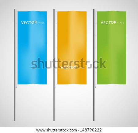 vector vertical colorful flags - stock vector