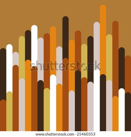 Vector Vertical Seventies Style Inspired Design - stock vector